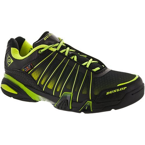 Dunlop Ultimate Tour Indoor Men's Racquetball/Squash Court Shoe (Black/Green) (Non-Marking) 7.5 D(M) US