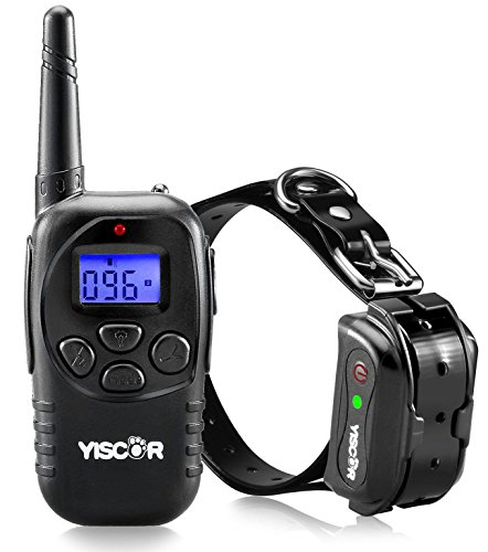 YISCOR Dog Training Collar, Shock/Vibration/Beep Remote 330Yds Range Rechargable and Waterproof Electric Collar Dog Collar for All Size Dogs (10LB-110LB)