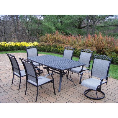 Oakland Living Cascade 7-Piece Dining Set with Boat Shape Table