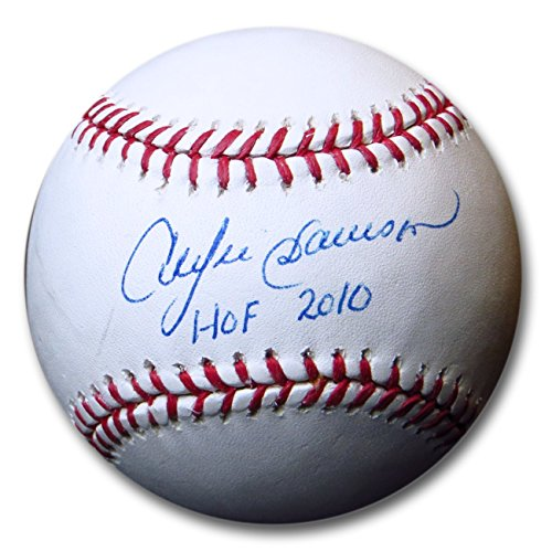 Pete Rose Andre Dawson Dual Signed Autographed MLB Baseball Reds Cubs w/COA ()