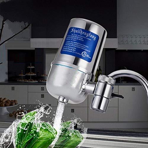 ☀ Dergo ☀ Water Purifier,Faucet Water Filter for Kitchen Sink Or Bathroom Mount Filtration Tap Purifier (Water Tap For Kitchen Sink)