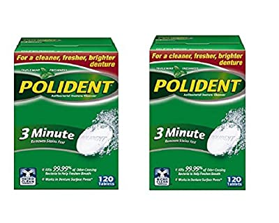 Polident Minute Antibacterial Denture
