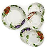 5pc Porcelain Multicolored Pasta Bowl Set