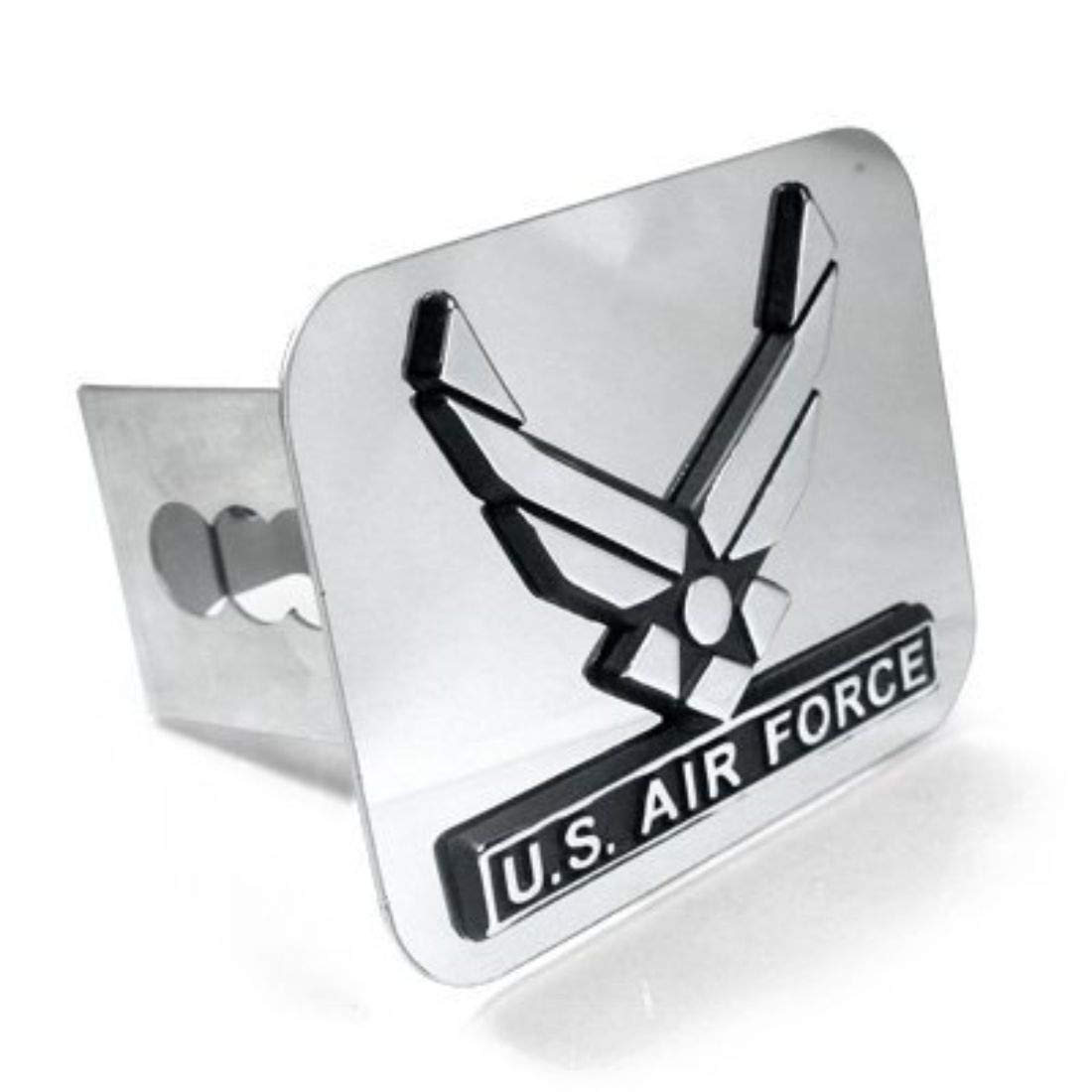 DanteGTS US Air Force Wing Chrome Trailer 2 Hitch Plug Cover Cap Stainless Steel