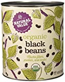 Natural Value 100% Organic Black Beans, 110 Ounce