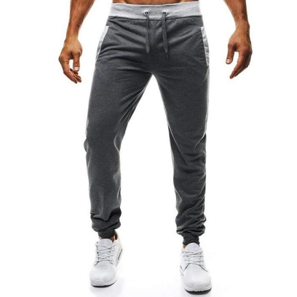 Spbamboo Mens Sport Fitness Joggers Elastic Waist Stretch Bodybuilding Sweatpant