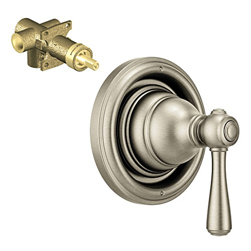 Moen K-T4311-75BN Kingsley 2-Function Transfer Valve Trim with 1/2-Inch CC Rough-in, Brushed (Moen Three Function Transfer Valve)