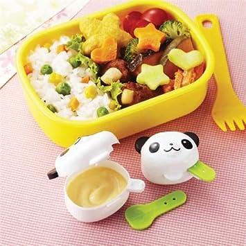 Envase para salsa mini animal kawaii 4 unidades caja bento fiambrera: Amazon.es: Hogar