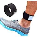Reflective Ankle Band with Mesh Pouch for Fitbit Zip/Charge 2/Blaze, Polar A360, Jawbone Up Move, Misfit Shine/2, Misfit Wearables Flash and Withings Activite Pop Smart Watch, One Size