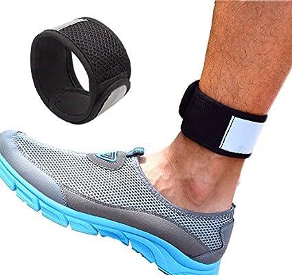 Reflectante banda de tobillo con bolsa de malla para Fitbit Zip/CHARGE2/Blaze, Polar A360, Jawbone UP Move, Misfit Shine/2, Misfit Wearables Flash y Withings Activite Pop reloj inteligente, un tamaño: Amazon.es: Deportes y