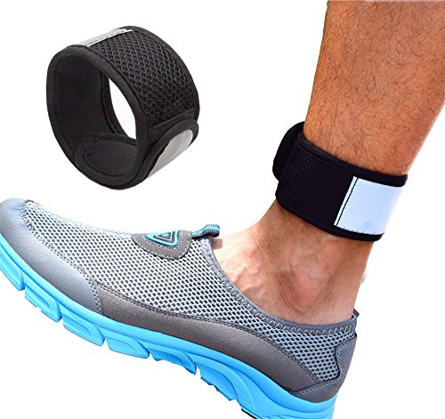 Reflective Ankle Band with Mesh Pouch for Fitbit Zip/Charge2/Blaze, Polar A360, Jawbone Up Move, Misfit Shine/2, Misfit Wearables Flash and Withings Activite Pop Smart Watch, One Size