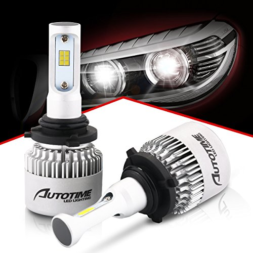 AutoTime 9006(HB4) LED Headlight Bulbs 72W 16000LM 6500K CSP Chips All-in-One Headlight Conversion Kit - 2 Year (36 Rotor Head)