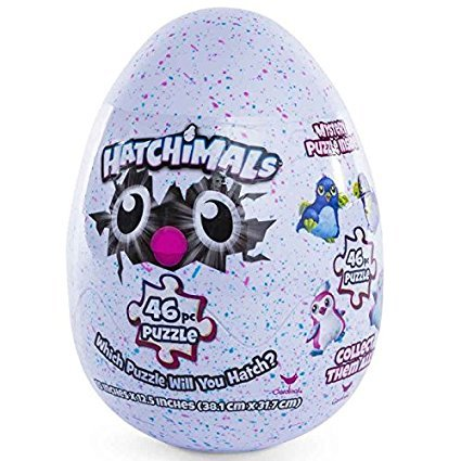 Hatchimals Egg 46 piece Puzzle Playtime (Jumbo White Bunny Kit)