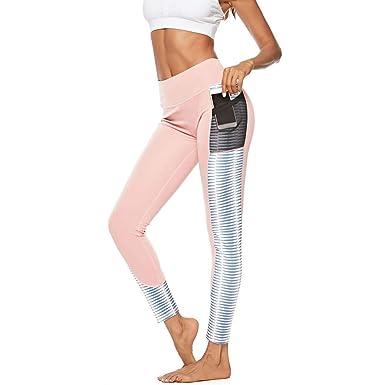 Pantalones Yoga Deportivas Alta Cintura Mujer Legging Slim Fit ...