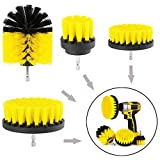 4PCS Drill Brush for Bathroom Surfaces Tub, for Car Cleaning Brushes,for Tile and Grout All Purpose Power Scrubber Cleaning Cleaner Combo Tool