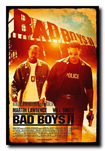 - Bad Boys II Movie Poster 24x36 Inch Wall Art Portrait Print - Will Smith Martin Lawrence