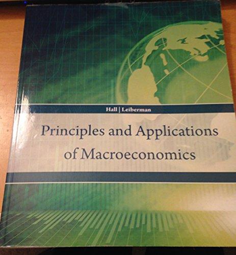 Principles and Applications of Macroeconomics