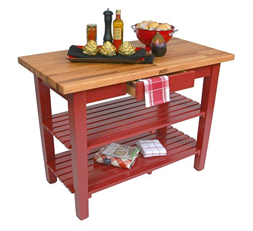 John Boos OC Oak Country Table - Blended Butcher Block Top, 36''W x 25''D - No Shelf, French Roast Base by John Boos (Image #1)