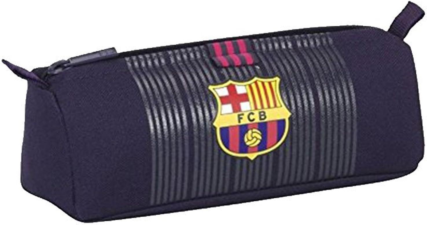 Safta Estuche escolar F.C. Barcelona Fútbol Negro & Azul Marino – News Collection 21 x 8 x 7 cm: Amazon.es: Joyería