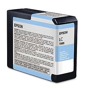 Epson C13T580500 - Cartucho de tinta, cian claro
