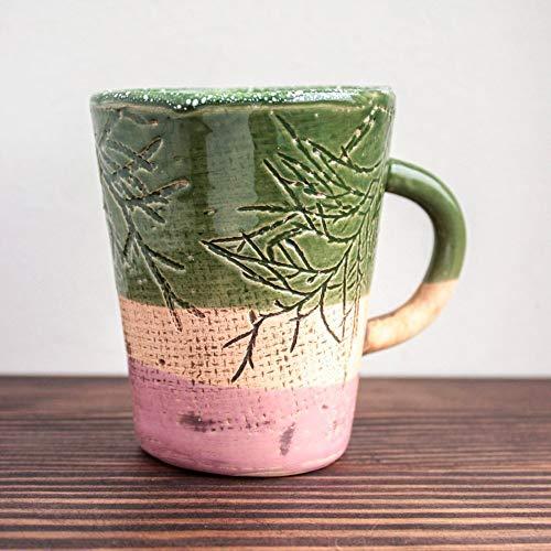 Coffee mug ceramic pottery espresso dinnerware handmade modern contemporary green tasses ()