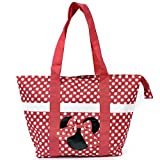 Disney Mickey and Minnie Mouse Icon Polka Dot Travel Beach Tote (Minnie)