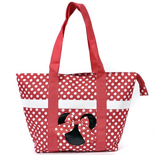 Disney Mickey and Minnie Mouse Icon Polka Dot Travel Beach Tote (World Shopper Tote)