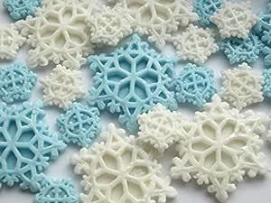 Decoración comestible de copos de nieve para cupcakes ...