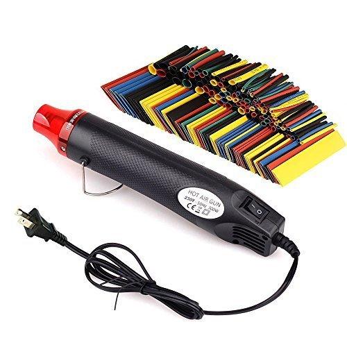 Heat Shrink Set, Heat Gun + 328pcs Heat Shrink Tube, Wire Wrap Tubing. by FLoweryOcean