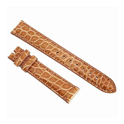 Alligator Orange Strap (Hadley Roma Orange 16 MM Alligator Leather Strap)