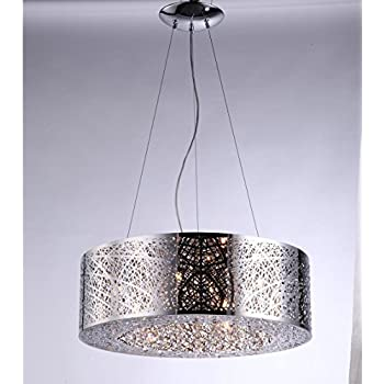 Amazon 9 light drum shade bird nest chandelier pendant drum shade bird nest chandelier pendant ceiling lamp dia 24 x h8 inca laser mozeypictures Image collections