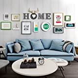 LQQGXL Simple modern photo wall combination portfolio photo photo photo living room bedroom Photo frame ( Color : #1 )