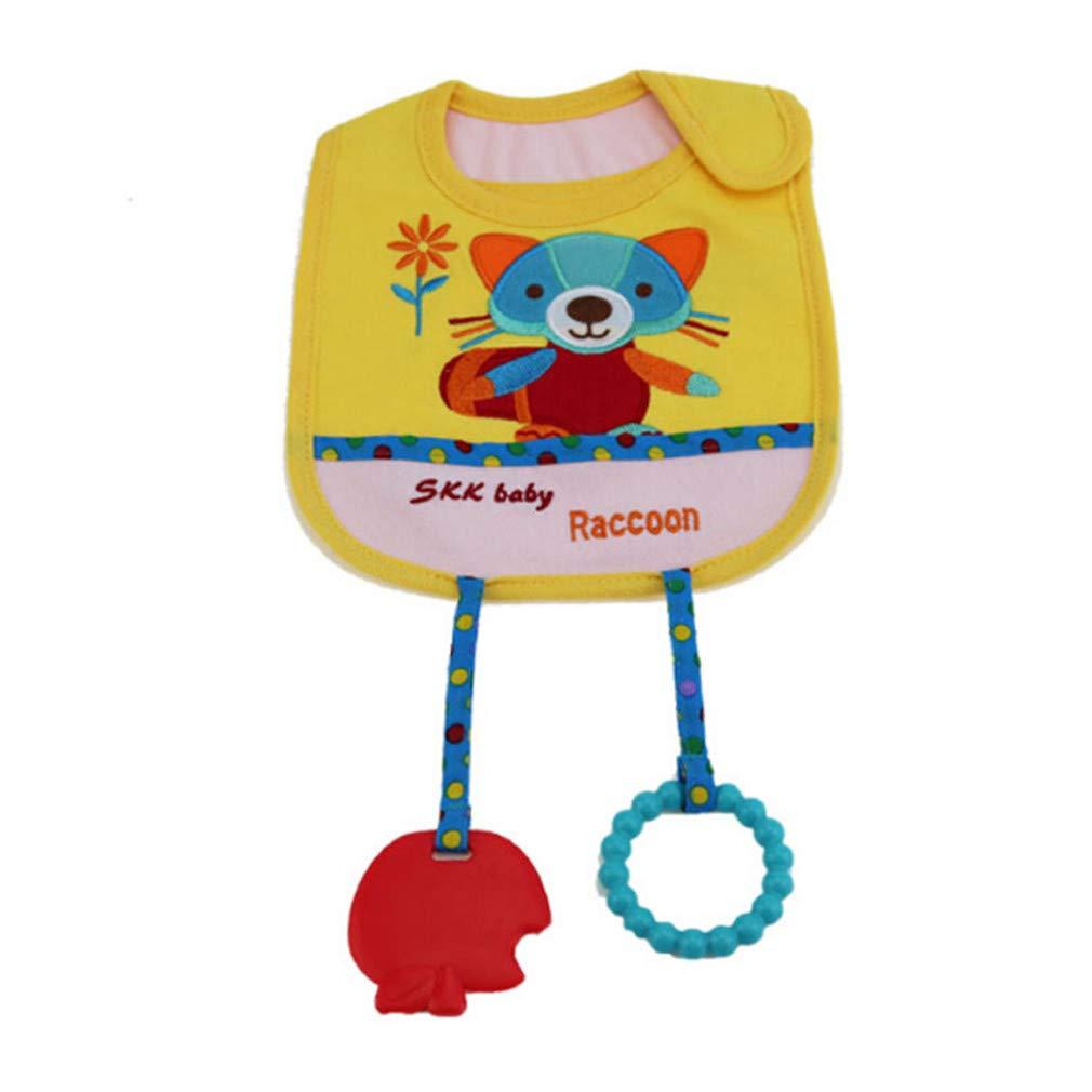 Timetries Baby Bibs Bande Dessinée Animal Style Coton Burp Chiffons Serviette De Salive Bib Burp Chiffons Accessoires, 0wl mei_mei9
