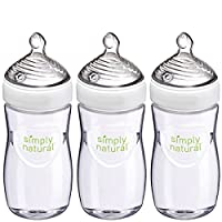 Deals on 3-Pack NUK Simply Natural Baby Bottle 9-Oz