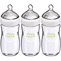 NUK 3-Pack of 9 Ounce Simply Natural Bottle
