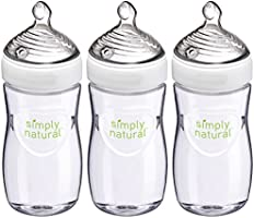 Save on NUK Simply Natural Baby Bottle, Clear, 9oz 3pk and more