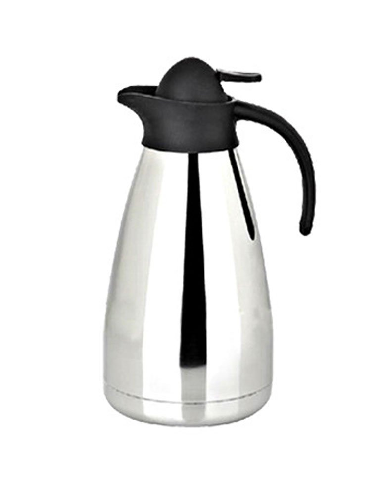 iecool Stainless Steel Metal Everyday Double Wall Vacuum Insulated Large Capacity Carafe Silver 68oz