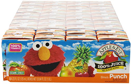 treet Elmo's Punch, 8 Boxes of 4.23 Fluid-oz, Pack of 5 ()