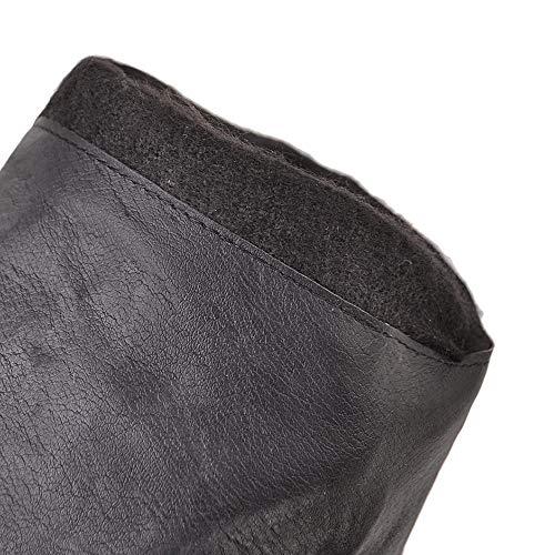 À Mesh Doublure Bas Compensés Pour Talon Coolcept Enfiler Femmes Bottes Noir Longue q5zCg