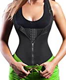 Eleady Women's Underbust Corset Waist Trainer Cincher Steel Boned Body Shaper Vest with Adjustable Straps (3XL, Black)