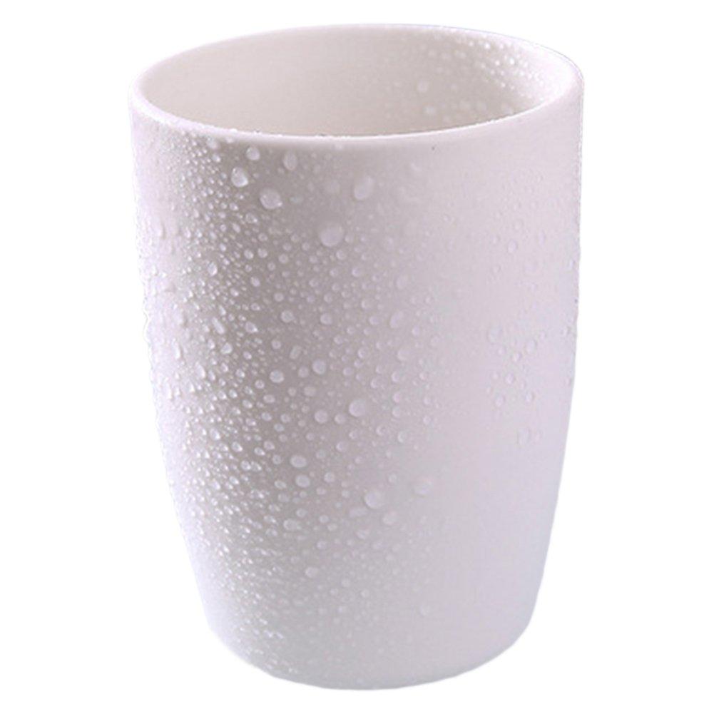Plastica bicchiere da bagno Collutorio coppa risciacquo tazza RINSE Cup, spessore Water Cup per coppia, White, Taglia libera FAVOLOOK