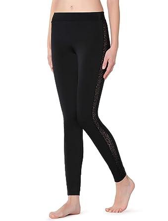 b41c1ba1c561 Calzedonia Womens Animal print tulle stripe leggings: Amazon.co.uk: Clothing