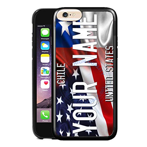 - BRGiftShop Customize Your Own Mixed USA and Chile Flag Rubber Phone Case for Apple iPhone 8 & iPhone 7