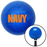 navy blue shift knob - American Shifter Company ASCSNX20605 Orange NAVY Logo Blue Metal Flake Shift Knob line out camper 427 procharger