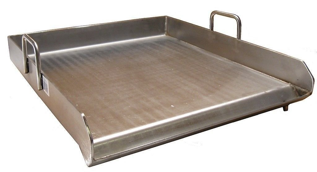 Ballington BA43 Heavy Duty Stainless Steel 16''x18'' Single Burner Comal Griddle
