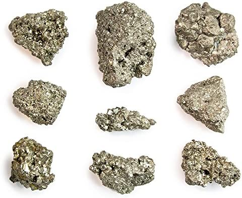 Zentron Crystal Collection Natural Pyrite Stones 3 Pound Lot Nice Small Sand Crystal Pieces