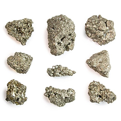 Beverly Oaks Iron Pyrite Stone - Pyrite Bulk - Gorgeous and Sparkling Bulk Pyrite (AKA Fool's Gold) (1/2 -