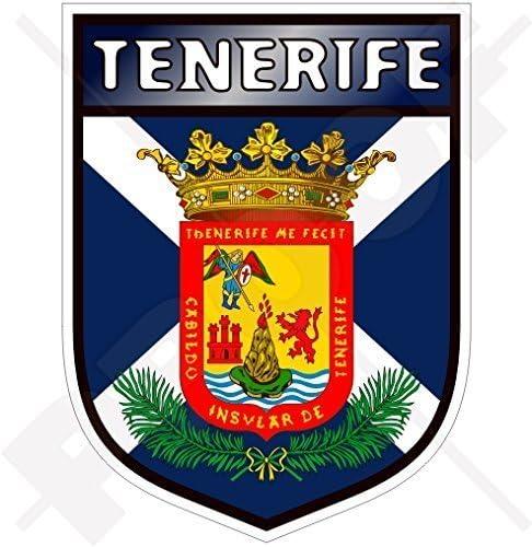 Teneriffa Insel Schild Kanarische Inseln Spanien Islas Canarias Spanisch 100mm Auto Motorrad Aufkleber Vinyl Sticker Garten