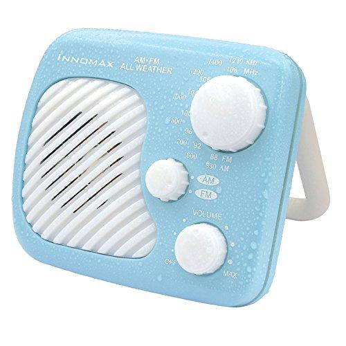 iNNOMAX Water Splash Proof Bathroom Shower All weather AM/FM Radio Receiver