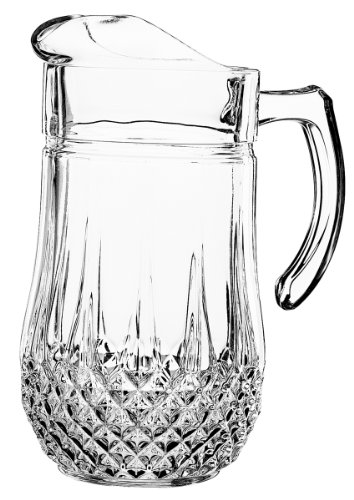 Crystal Jug - Luminarc Arc International Longchamp Diamax Pitcher, 50.5 oz, Clear
